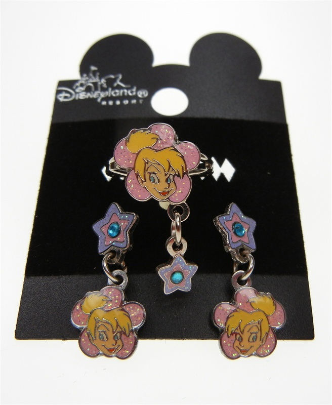 Authentic Disney Character Earring and Ring Set