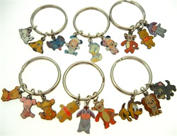 Disney Keychain Pluto9 Stitch Minnie Tigger Piglet More