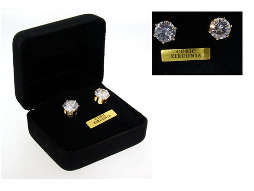 2 CTW Round Stud Earrings Crystal Clear