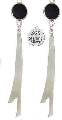 Sterling & Precious Stone Earrings, Native American