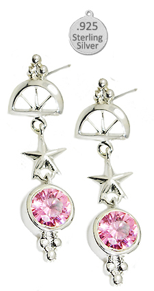 Sea Life Wholesale Earrings Pink Ice