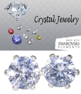 2 Carat Crystal Swarovski Stone Crystal Stud Earrings yellow gold