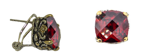 Designer Cable Jewelry Earring Garnet