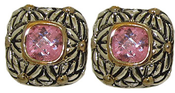 Designer Cable Fashion Earring Pink