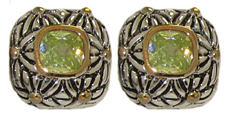 Designer Cable Fashion Earring Peridot