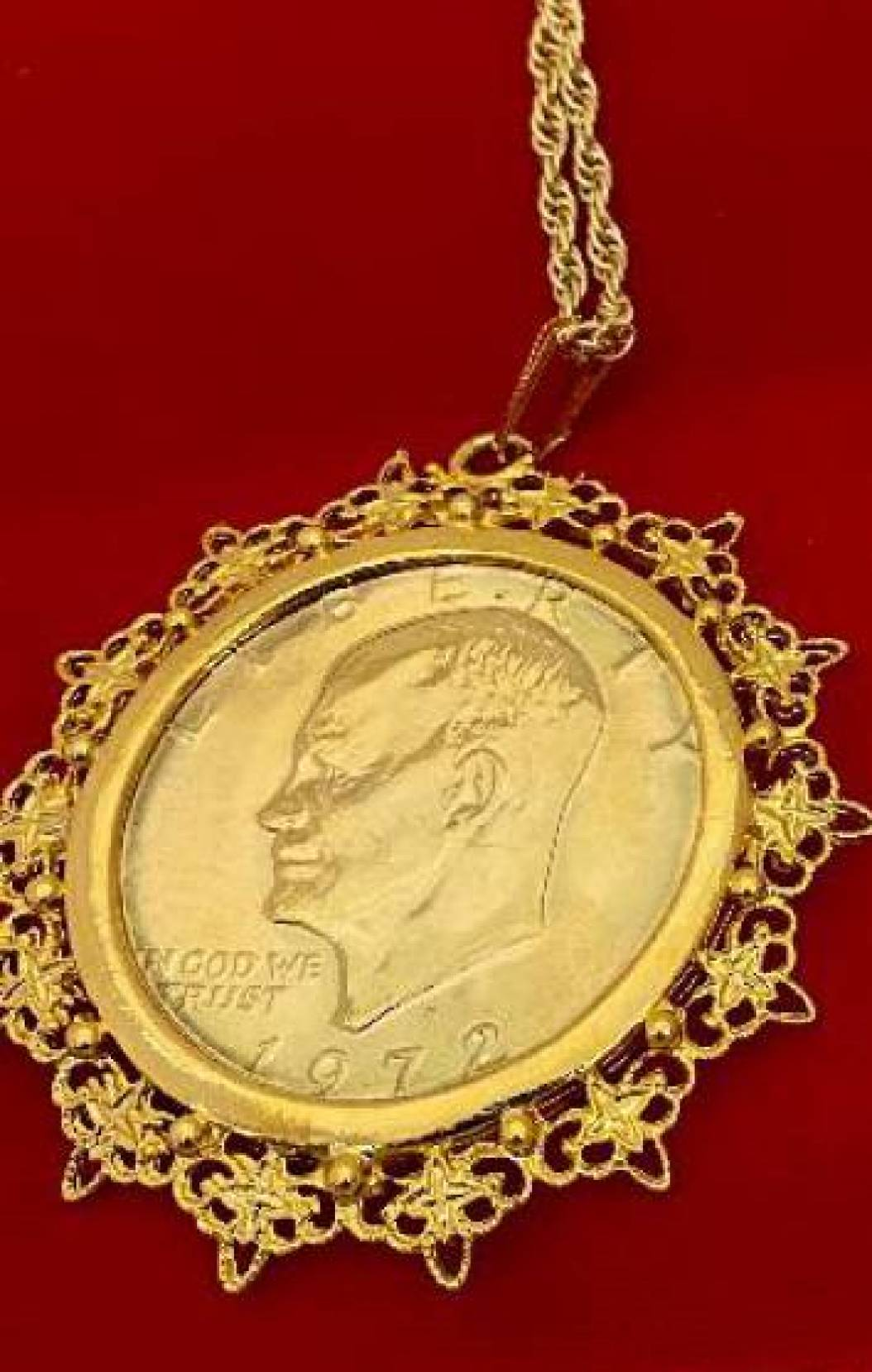 Eisenhower one dollar coin necklace