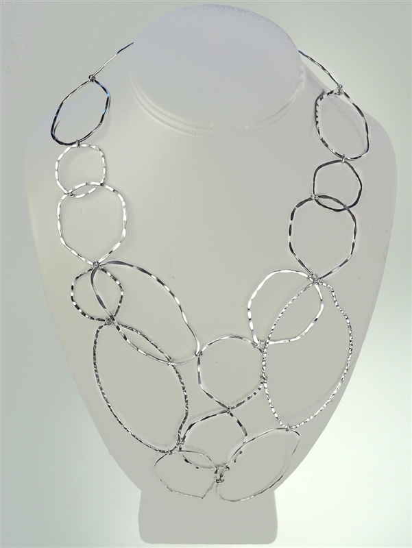 Choco's Linked Forever Necklace Silver Plate Necklace
