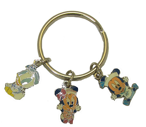 Disney Key Ring Minnie Mouse, Mickey Mouse & Donald Duck