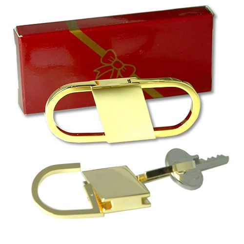 Center+Push+Key+Ring+Gold+plate+Keyring