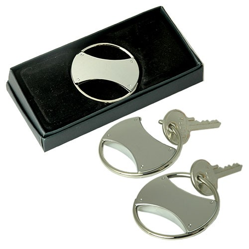 Circle Double Sided Key Ring