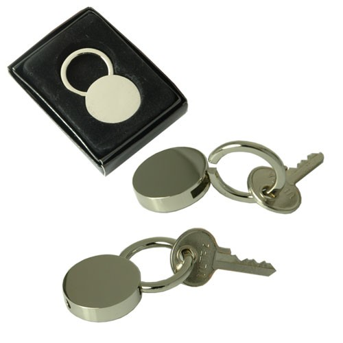 Lock Style Key Ring in Chrome plate