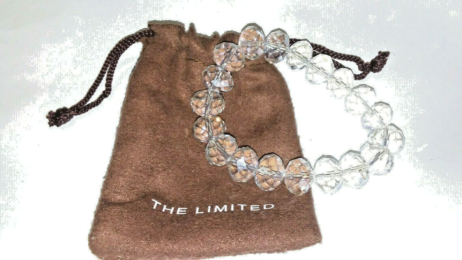 Limited Crystal Beaded Faceted Bracelet NWT
