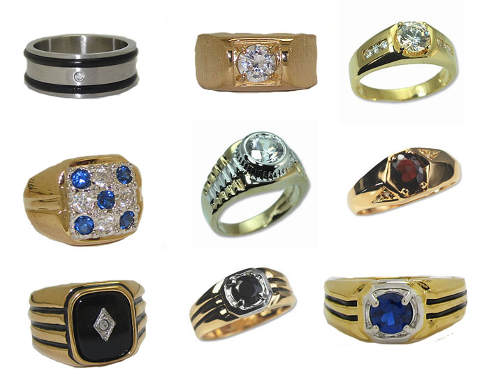 Ring Men's Special with Free Display 24 Rings below wholesale