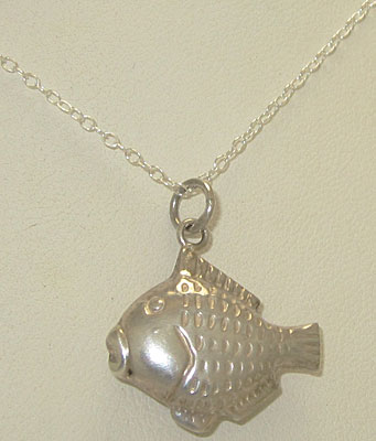 925 Sterling Silver wholesale Fish Charm with Chain