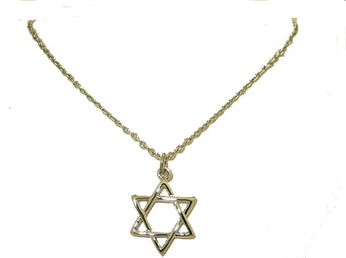 Star of David Necklace w Chain Wholesale