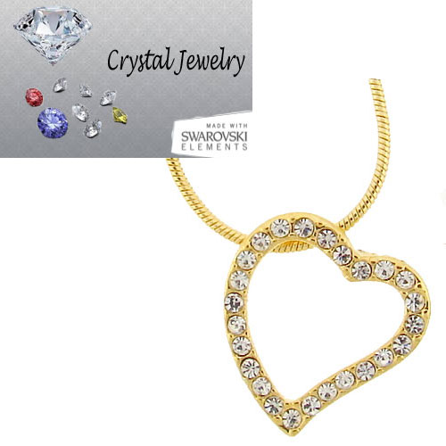 Yellow Gold Designer inspired heart necklace