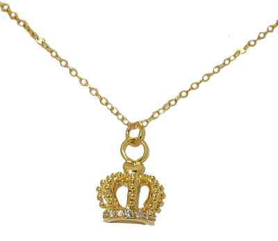 Golden Crown Accented in Crystal
