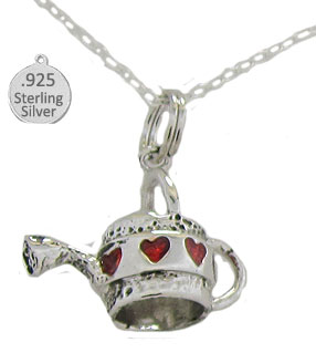 Sterling Silver Watering Can Pendant & Chain