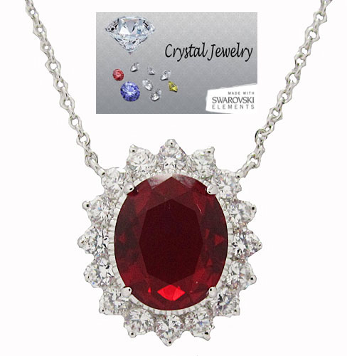 Princess Kate & Princess Di Wholesale Necklace with chain Ruby