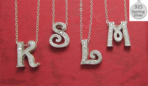 M LETTER M on chain wholesale necklace