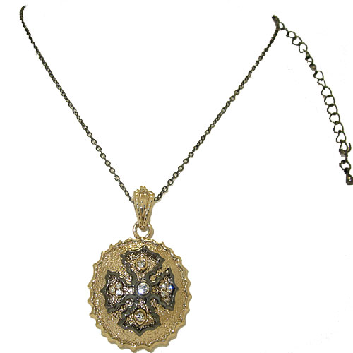 Designer Necklace adjustable Chain, maltese cross