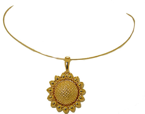 Sun Flower Noland Miller Pendant with Chain