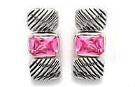 Designer Cable Earring in Pink