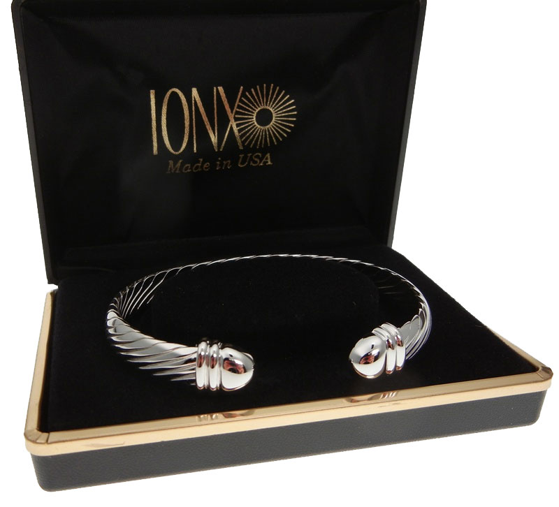 IONX Silver Cuff Bracelet Boxed Made in USA