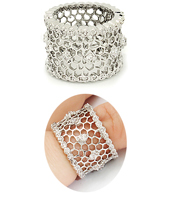Open Weave Wide wholesale Band Cz Ring