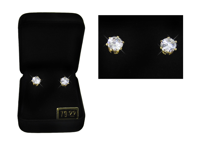 2 CTW Round Stud Earrings gift boxed white gold