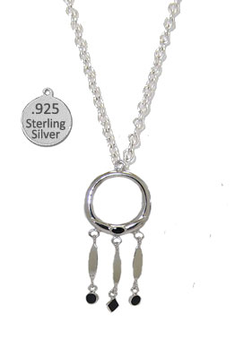 Silver Genuine Black Onyx Gemstone  Wholesale Necklace