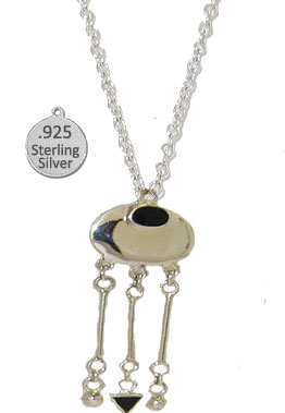 Silver & Genuine Black Onyx Stone Wholesale Necklace