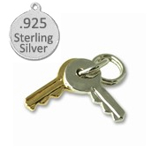 Sterling Silver Keys Wholesale Charm