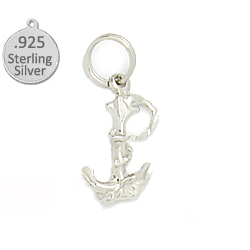 .925 Sterling silver anchor & rope wholessale charm