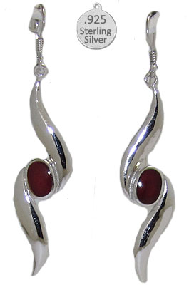 Garnet Gemstone, Native American Wholesale Earring