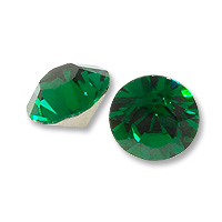50 Emerald Crystal Gold Foil Back 7 mm