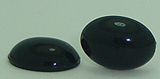 10 Black wholesale 18mm x 13mm Black Flat Back