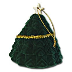 Xmas Tree Ring Earring Box