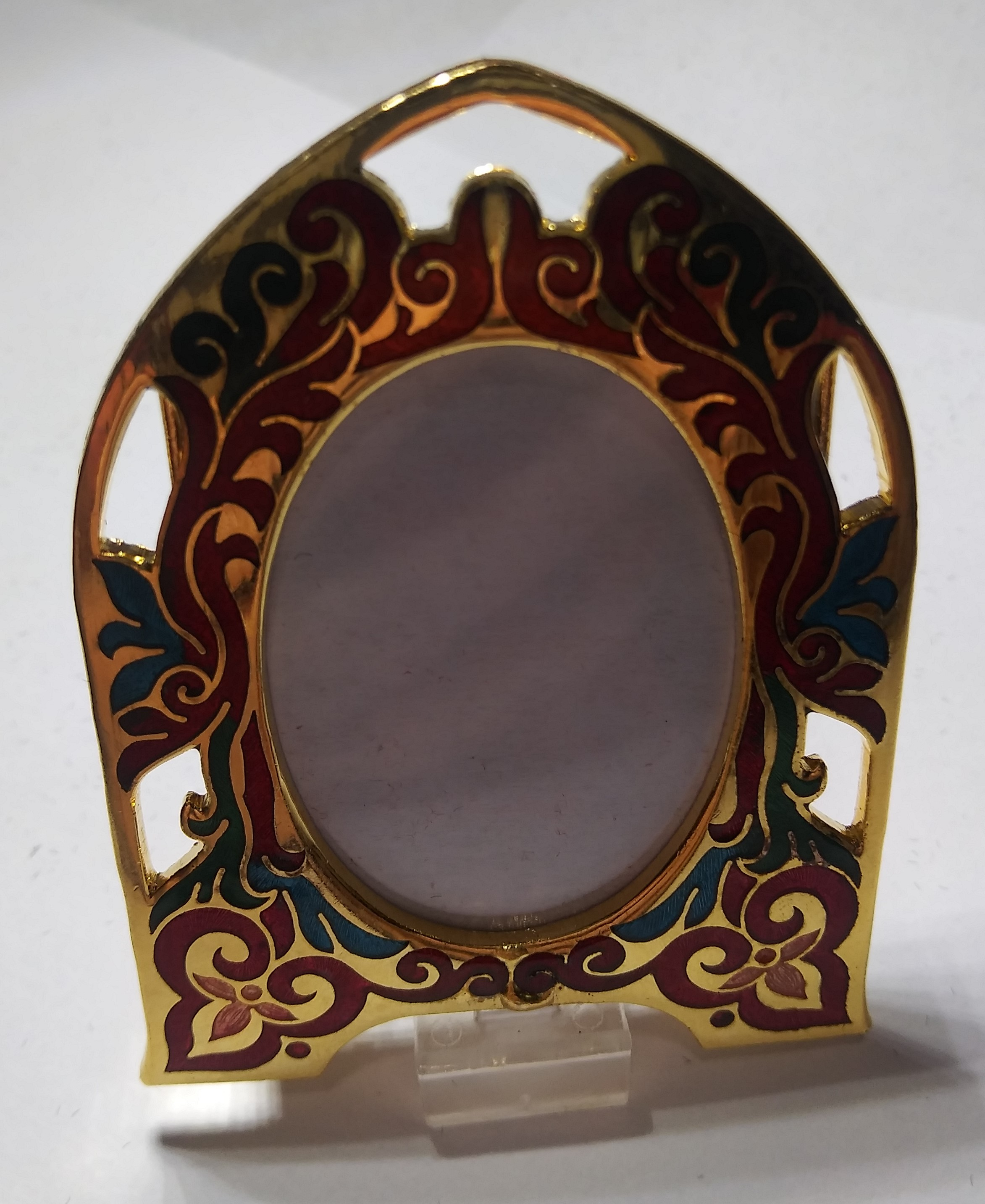 "Cloisonne Picture Frame Multi Arch 2 1/2""h x 1 3/4""w boxed NEW"