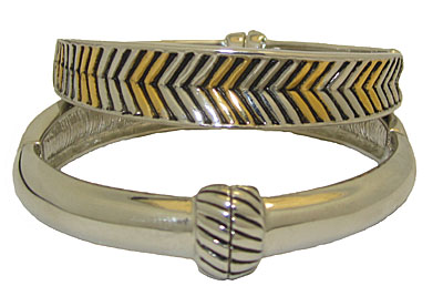 Two Tone Magnet Bangle Bracelet