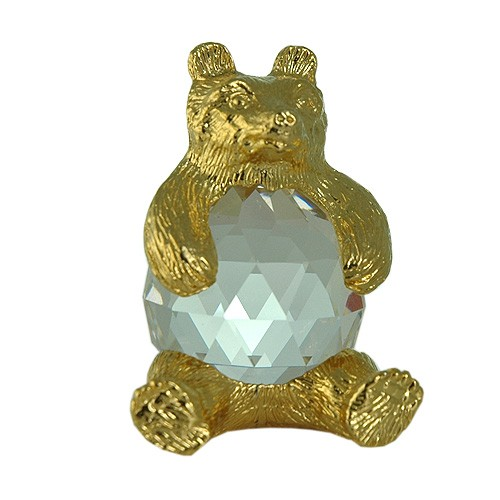 Bear+figurine+in+exquisite+Crystal+Zoo