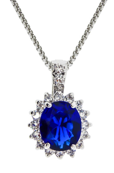Princess Kate & Princess Di Necklace with chain sapphire