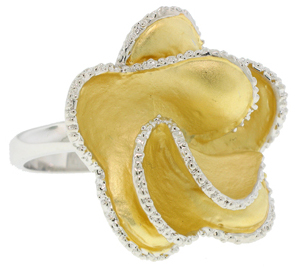 Mate Brushed Yellow Gold Wholesale Ring