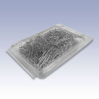 1000 Silver Tone Economy Display Pins 1000 per packaged