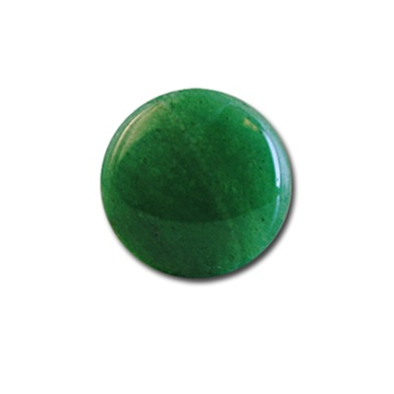 3 - 18 mm Round  Flat Back Malachite Stone