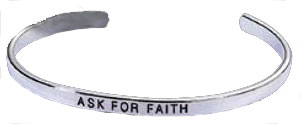 Silver Faith Cuff wholesale Bracelet