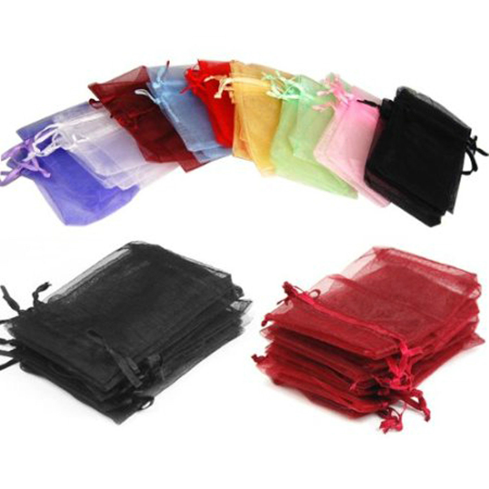 X Large 24 Organza Wholesale Bags  5 1/2 x 4 2/4