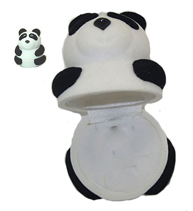 Panda Bear Pendant Ring Earring Box