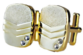 Men's Gold Plated Cuff Links