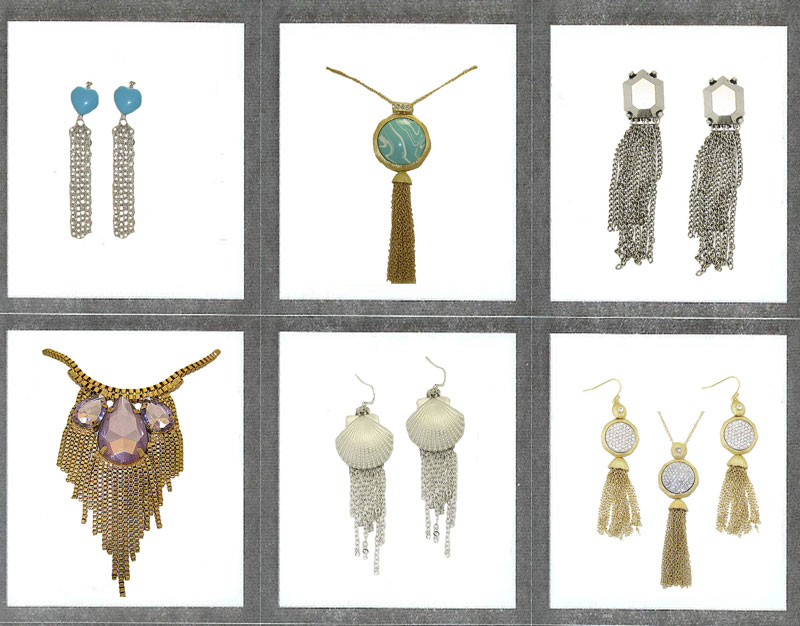 6 Pcs Tassel Collection